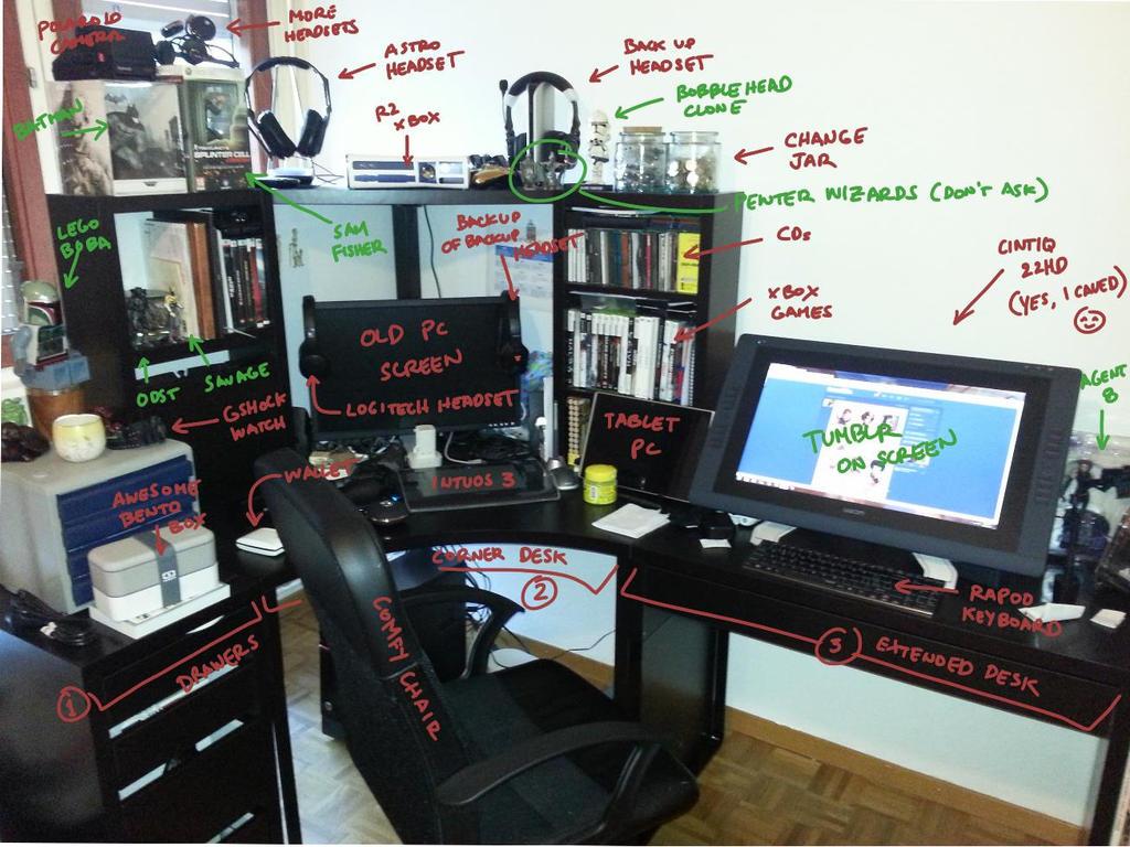 New Desk Setup By Commander 13 On Deviantart