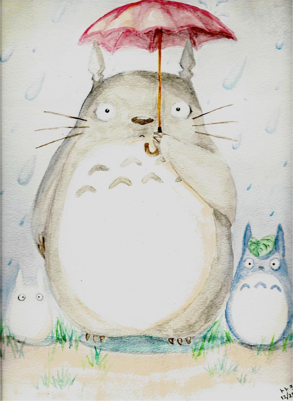 Totoro: Rainy Day by SailorShana8 on DeviantArt
