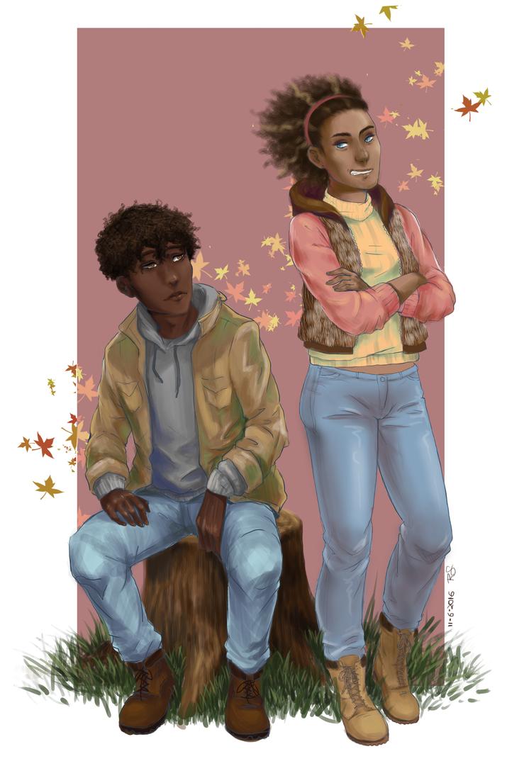 C: Roscoe and Rhiannon by SailorShana8