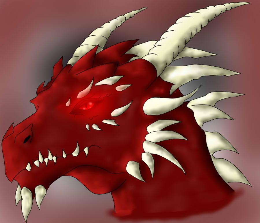 Deep red dragon by kyrapye