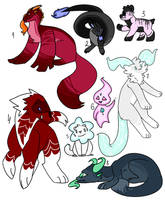 adopts each 50 pts [2/8 open] by LauraFaer