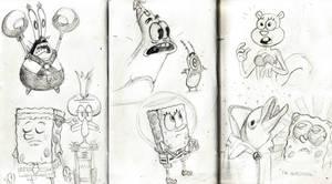 Spongebob 'Sponge Out of Water' movie sketches