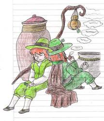 Un Leprechaun y su nieto by KyonKyonSoy
