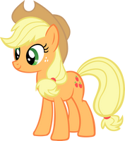 Happy Applejack Vector by hombre0
