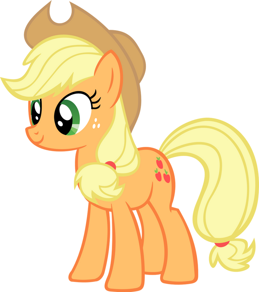 the gallery for gt happy applejack vector