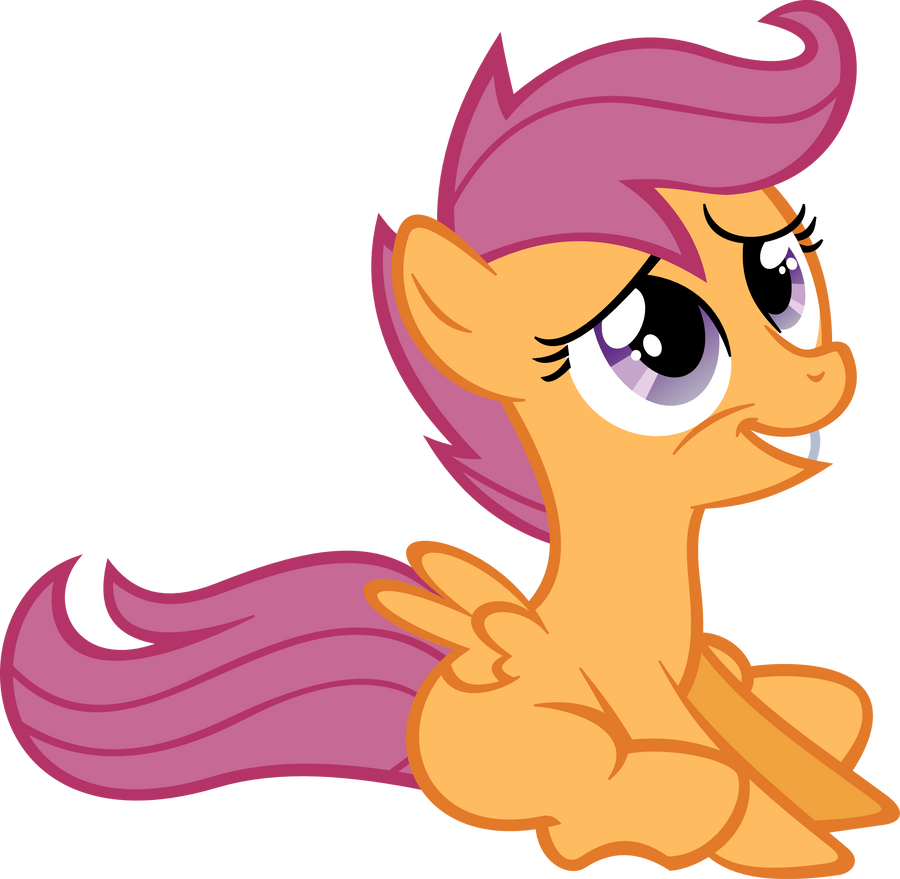Sitting Scootaloo Vect...