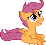 Sitting Scootaloo Vector