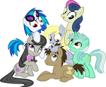The Mane Background Ponies