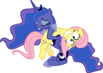 Luna and Fluttershy Vector