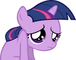 Sad Filly Twilight Vector