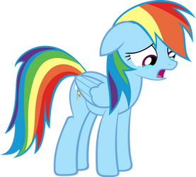 Crying Rainbow Dash by hombre0