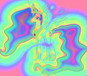 Rainbow Princess Celestia by hombre0