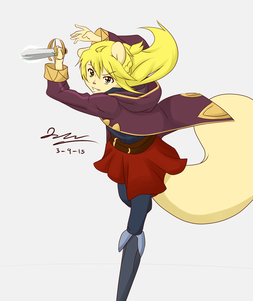 Fierce Fencer by Graypelt