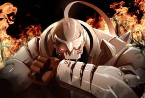 Battle Scarred Alphonse Elric by CaptainCanada