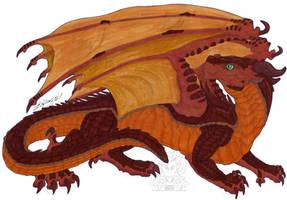 Wings of Fire fanart - Nettle the MudWing by ZhaKrisstol
