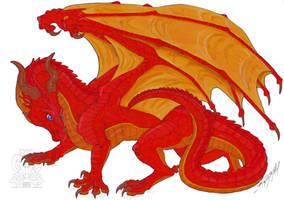 Wings of Fire fanart - Alizarin the SkyWing by ZhaKrisstol