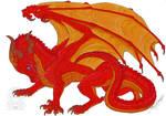 Wings of Fire fanart - Alizarin the SkyWing