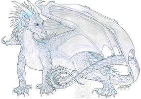 Wings of Fire fanart - Mosaic the IceWing by ZhaKrisstol