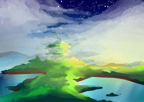 First Attempt to bg painting @n@