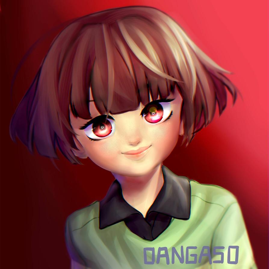 Semi-realism practice   Chara fan art by Dangaso