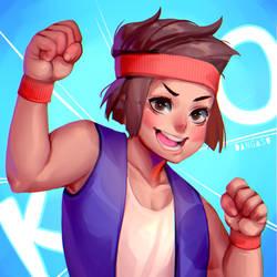 K.O. (OK KO FANART) by Dangaso
