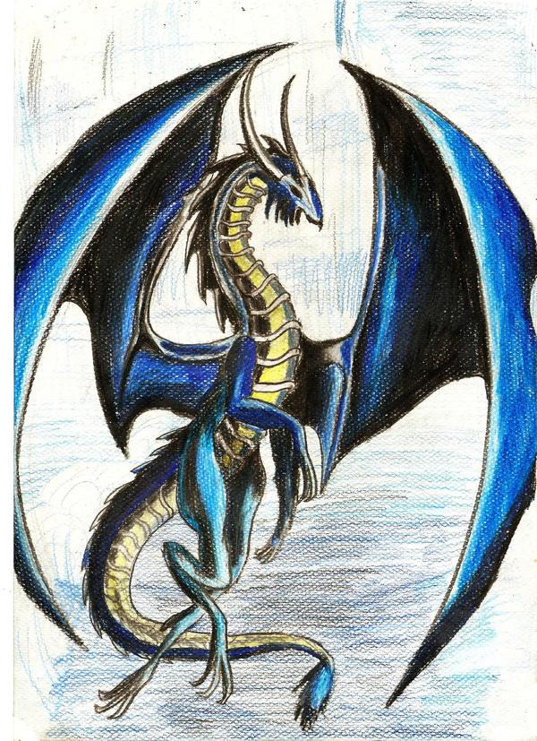 blue dragon by YakuzaKuroi