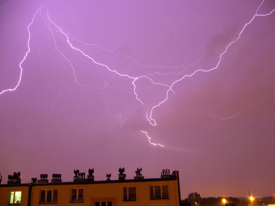 Lighting over Chorzow by YakuzaKuroi