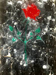 Rose 1 - EBRU, paper marbling by YakuzaKuroi