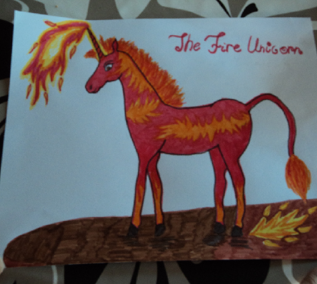 Mia and MeThe fire unicorn drawing by Stelle on DeviantArt