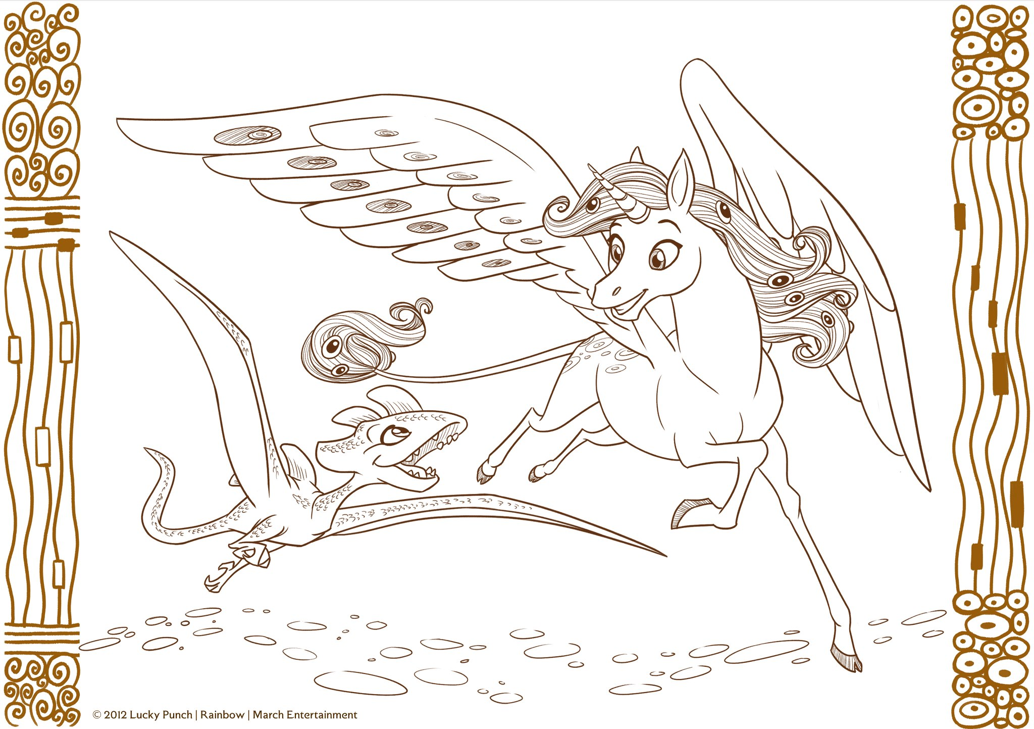 Mia and me unicorn coloring pages - Mia_and_me_bookpage_onchao_and_blues_by_stell_e D5mfes4 Jpg 2048 1443 Mia Me Pinterest