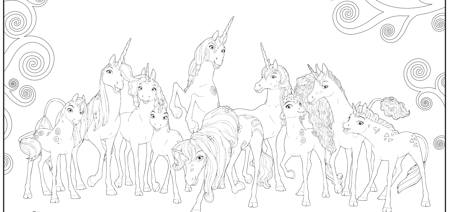 Mia and me unicorn coloring pages -  Mia And Me Unicorns Coloring By Stell E