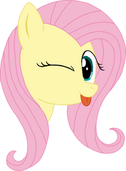 Fluttershy Blep by ShadowLover37