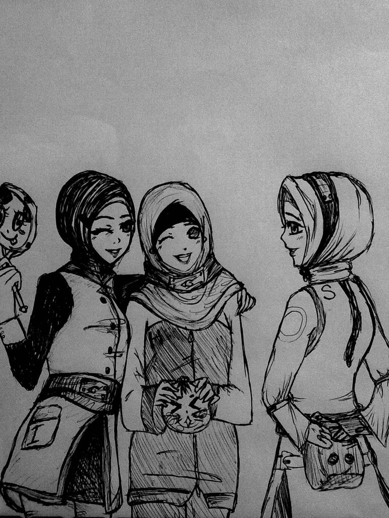 naruto girls in hijab by dilnoza5a on DeviantArt