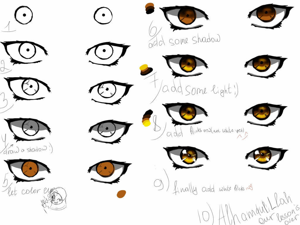 How To Draw Eyes By Dilnoza5a