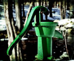 Water Pump in the Woods by wagn18