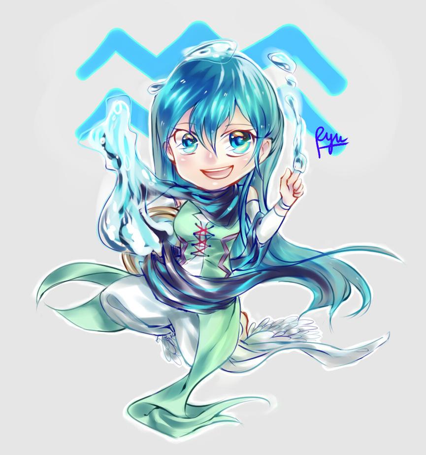 Aquarius chibi by Shiric on DeviantArt  Anime Aquarius