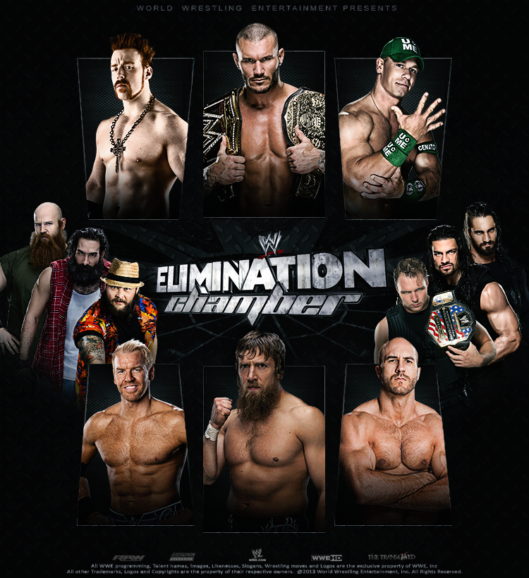 WWE Elimination Chamber 2014 - Poster by thetrans4med