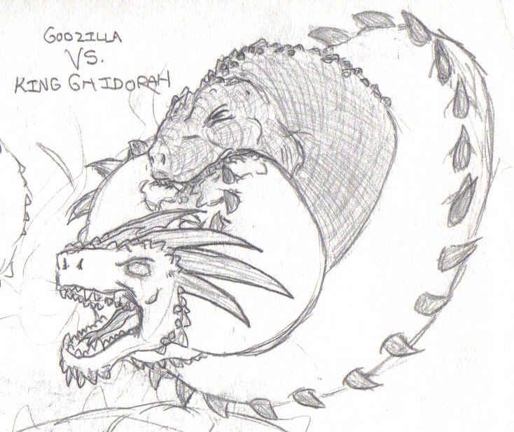 Burning Godzilla Coloring Pages