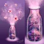Magic flask CHERRY BLOSSOM