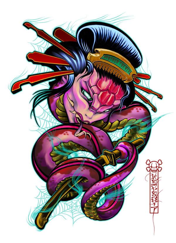 Japanese Geisha Tattoo Designs Gallery 13