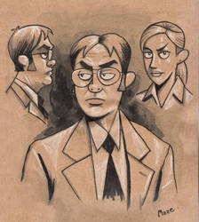 Office Sketches - Dwight by b-maze