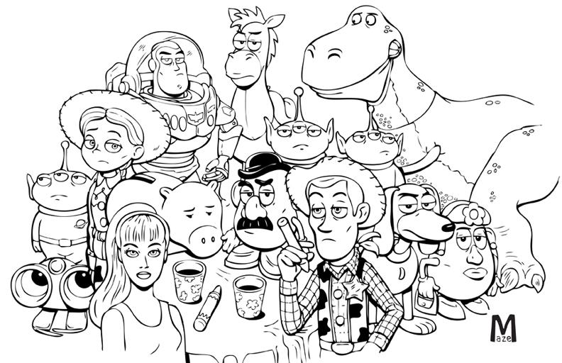 Toy Story line version by b-maze on DeviantArt