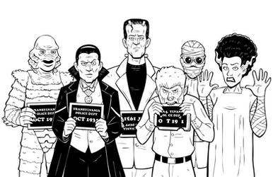 Usual Suspects - Classic BW by b-maze