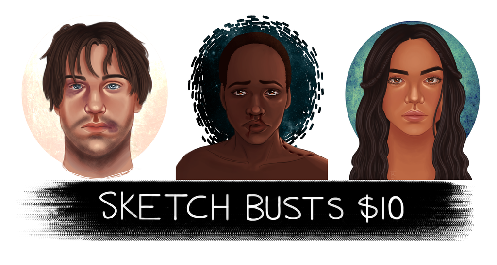 Sketch Busts copy by TheDivineMissM-94