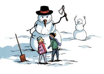 Snowmen Attack by MerryMei