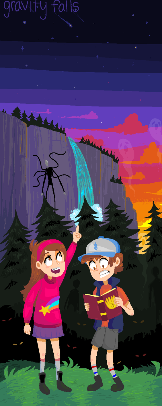 GRAVITY FALLS- MS PAINT by okakopa