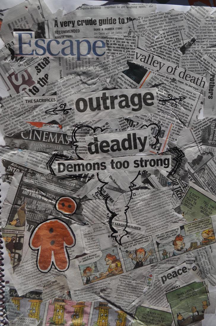 Czeshop Images Newspaper Collage Wallpaper