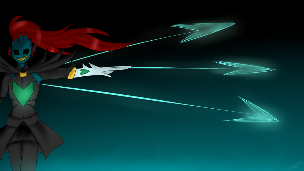Undyne the undying by Elana-01
