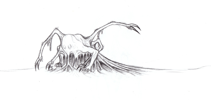 Slimey Nightmare Critter by BiWinner