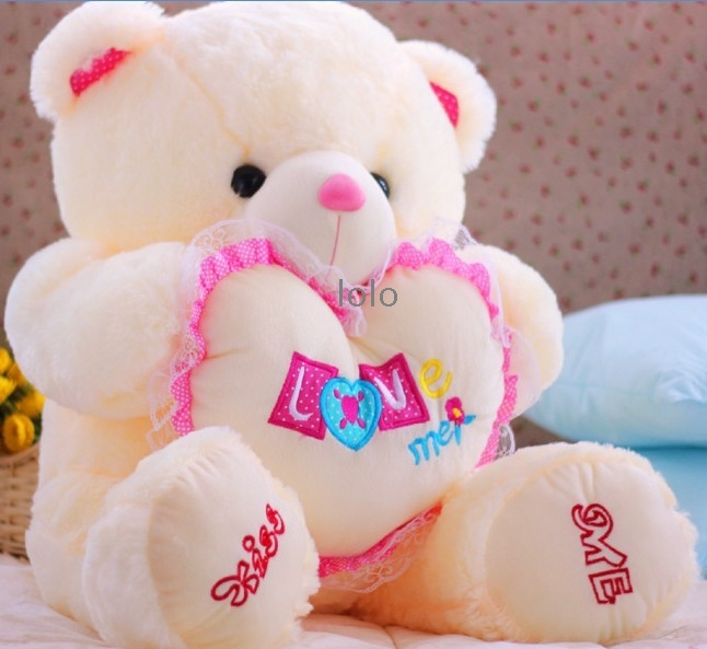 70cm cute teddy bear doll big heart arms hold by lesz11 on deviantart